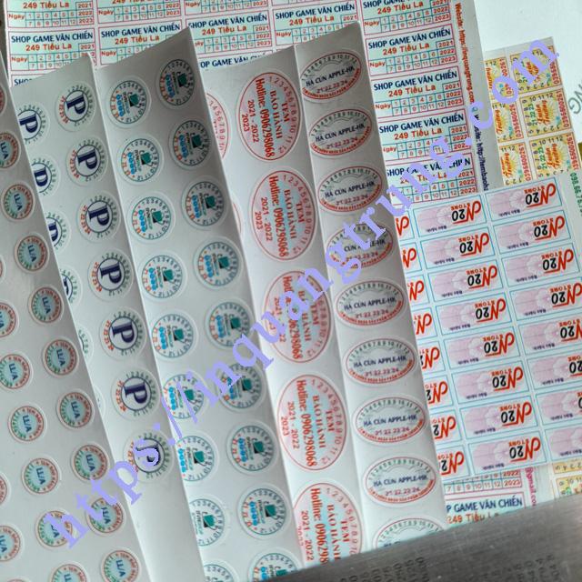 So sánh giá tem bảo hành chữ nhật rẻ nhất